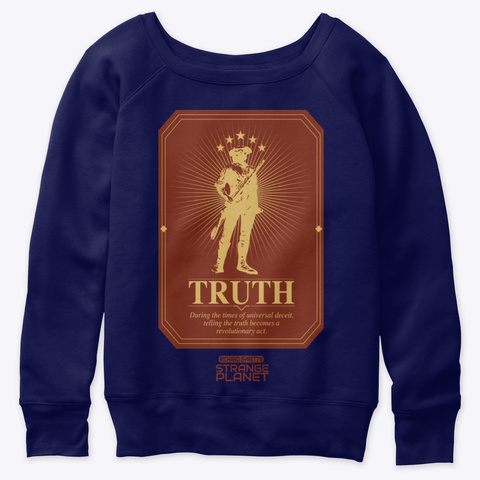 Truth Navy  T-Shirt Front