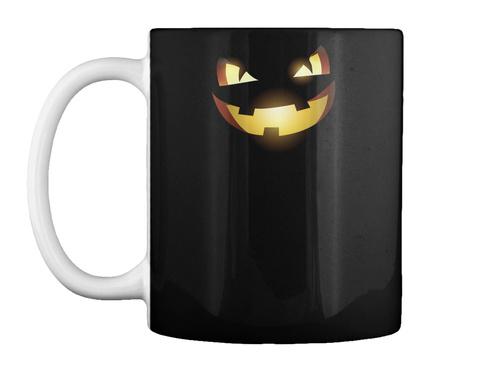 Pumkins Halloween Faces Mug Black Mug Front