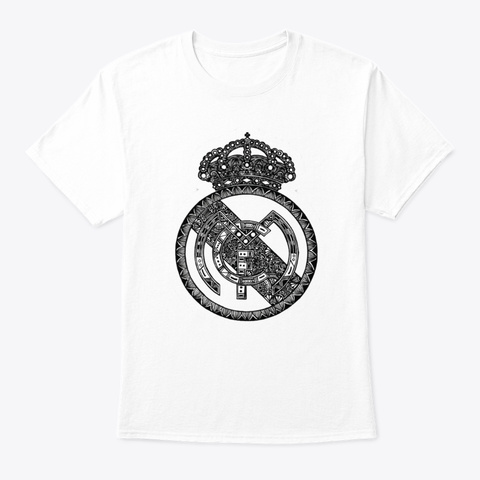 Real Madrids White T-Shirt Front