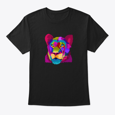 Queen Cat Black T-Shirt Front