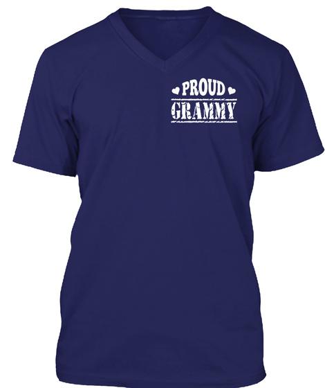 Proud Grammy Navy T-Shirt Front