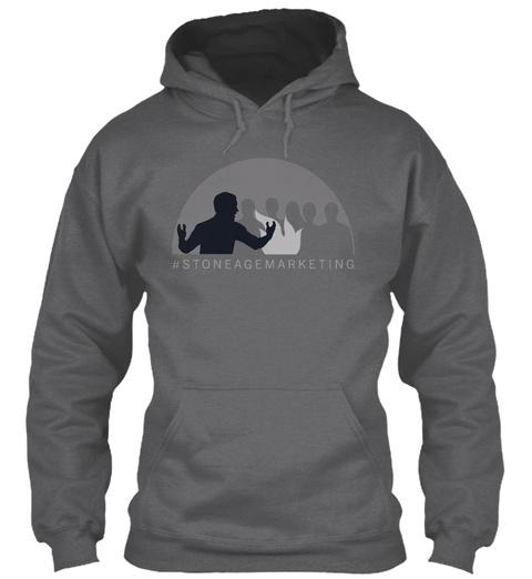 #Stoneagemarketing Dark Heather T-Shirt Front