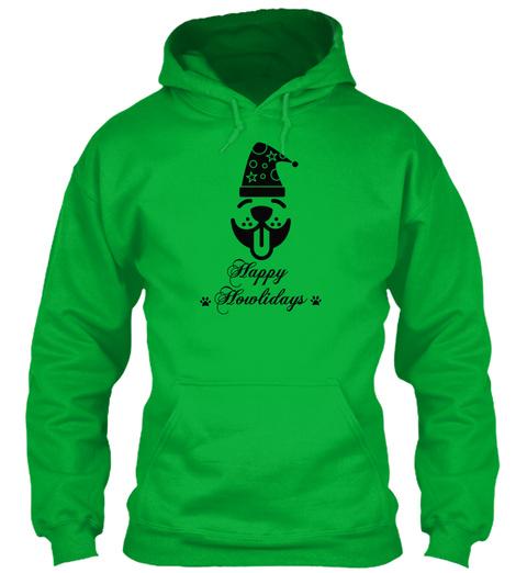 Happy  Howlidays Kelly Green T-Shirt Front