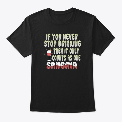 Sangria Apparel | Wine Fruit And Brandy Black T-Shirt Front