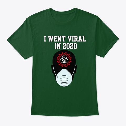 Corona Virus Art Design 2 Deep Forest T-Shirt Front