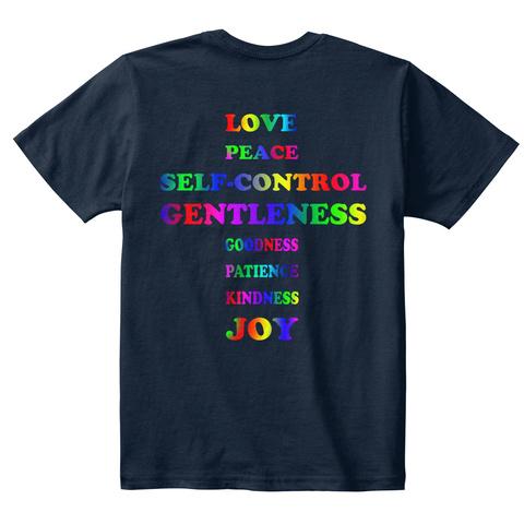 Kids T Shirt New Navy Kaos Back