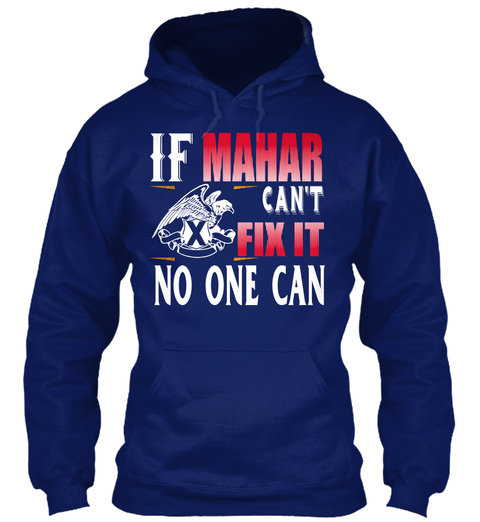 If Mahar Can't Fix Oxford Navy T-Shirt Front