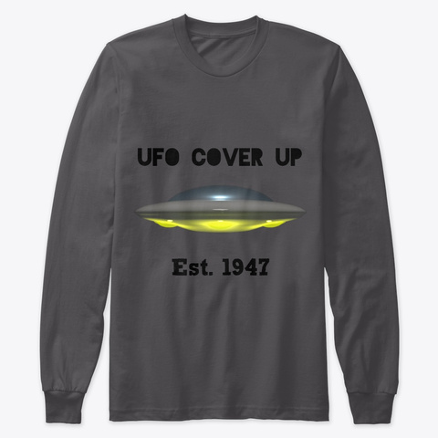 Ufo Cover Up Est. 1947 Heavy Metal T-Shirt Front