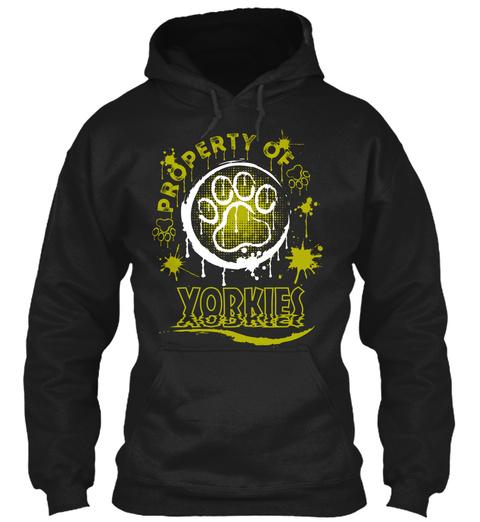 Property Of Yorkies Black Sweatshirt Front