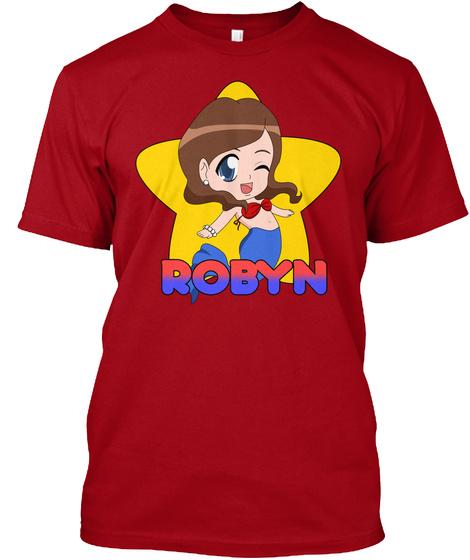 Robyn's Swim Club! Deep Red T-Shirt Front