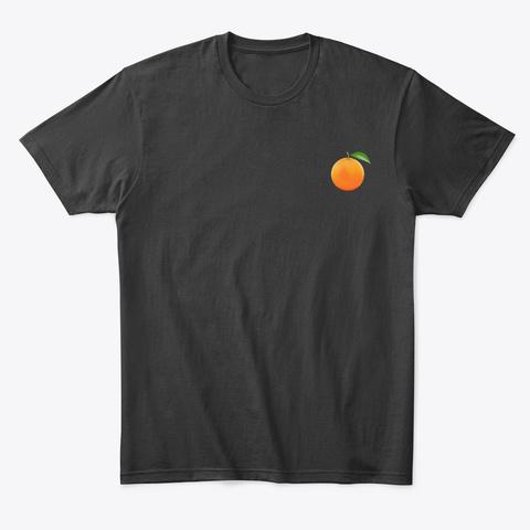 Orange T Shirt Black T-Shirt Front