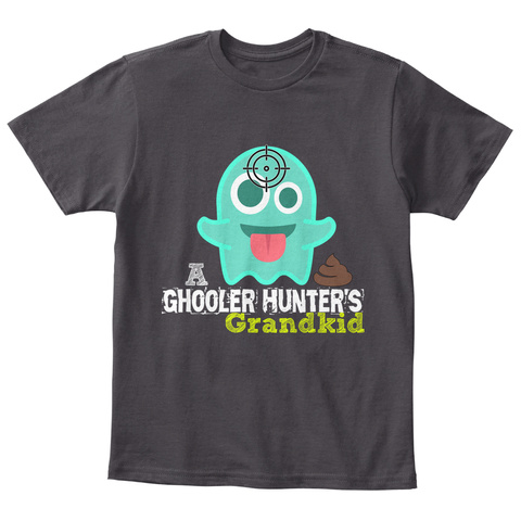 Ghooler Hunter's Grandkid Heathered Charcoal  T-Shirt Front