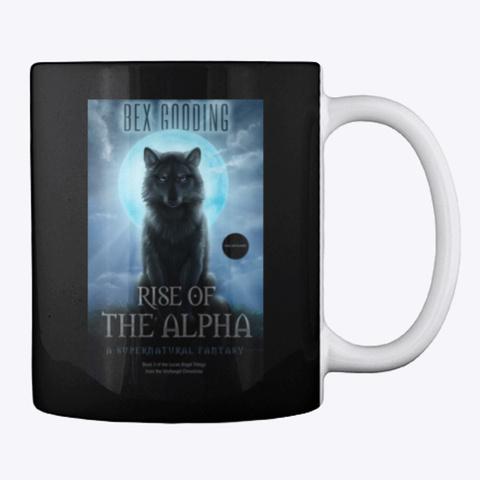 Rise Of The Alpha Mug Black T-Shirt Back