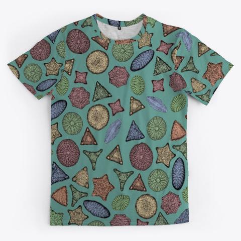 Diatoms Marine Biology Art Standard T-Shirt Front