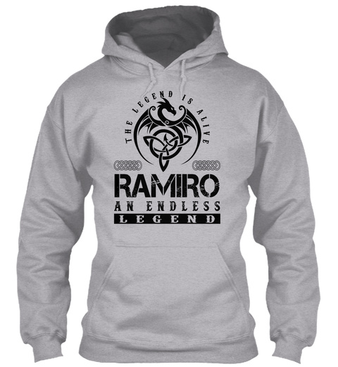 Ramiro   Legends Alive Sport Grey T-Shirt Front