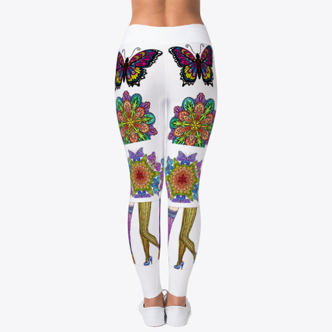 Lovely Artwork Leggings Standard T-Shirt Back