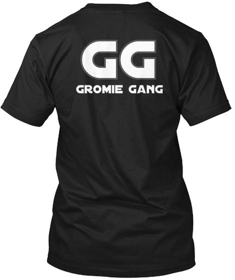 Gg Gromie Gang Black T-Shirt Back