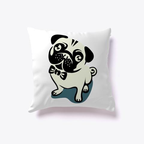 Animal Pillows | Bulldog Pillow White T-Shirt Front
