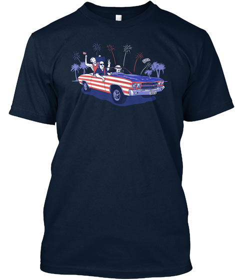 Founding Fathers  New Navy T-Shirt Front