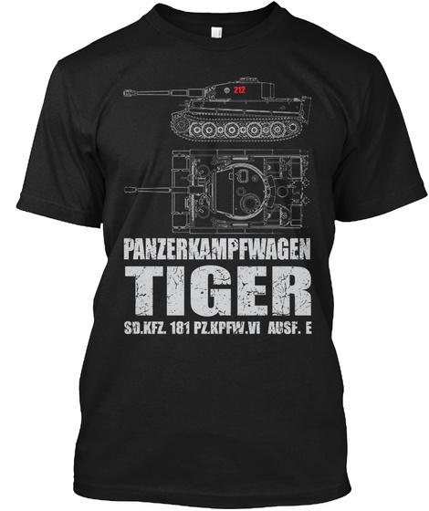 Panzerkampfwagen Tiger Sd.Kfz. 181 Pzkpfw.Vi Ausf.E Black T-Shirt Front