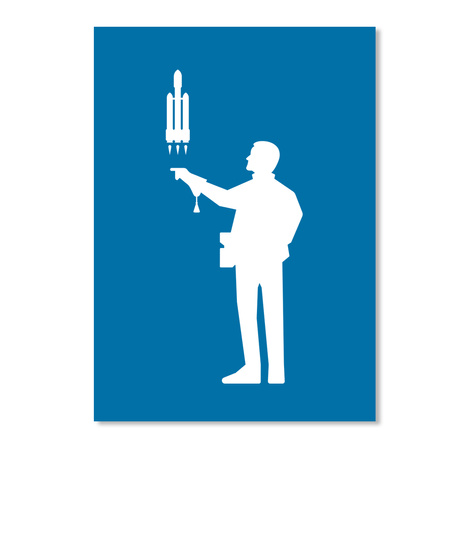 Falconer 4 Man Sticker [Int] #Sfsf Royal Blue Sticker Front