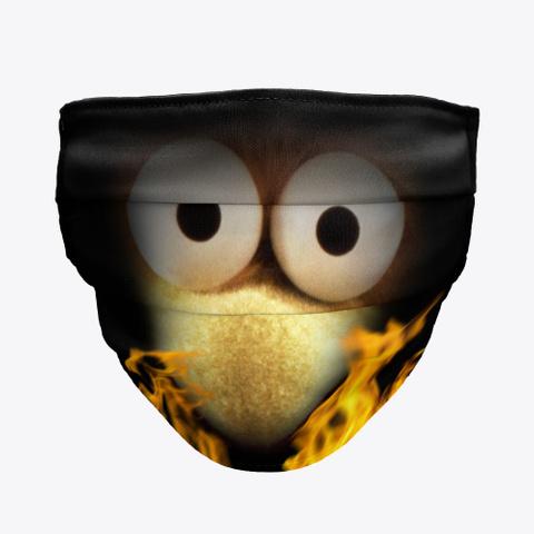 Burning Fraggle Face Mask Black T-Shirt Front