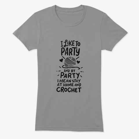 Crocheting Knitting Gift Premium Heather T-Shirt Front