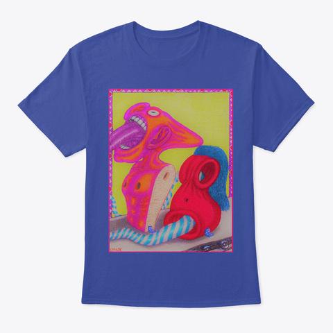 """Assembling Virtue"" Deep Royal T-Shirt Front"