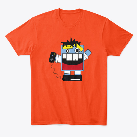 Gamer Brah Deep Orange  T-Shirt Front