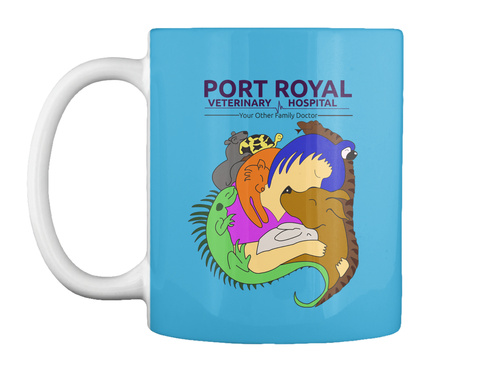 Port Royal Veterinary Hospital Your Other Family Doctor Lt Blue T-Shirt Front