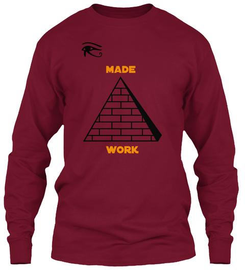 Made Work Cardinal Red T-Shirt Front