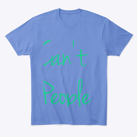 Can't People Heathered Royal  T-Shirt Front