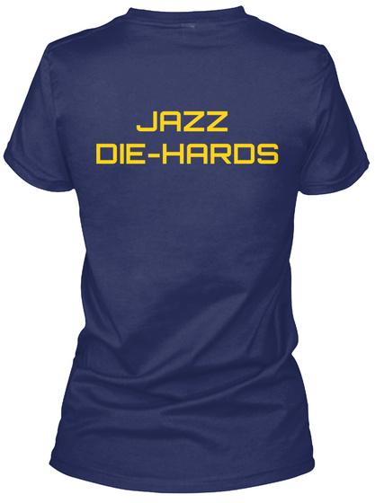 Jazz Die Hards Midnight Navy T-Shirt Back