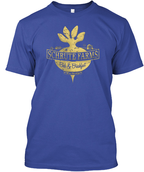 Schrute Farms Special Mose Edition Deep Royal T-Shirt Front
