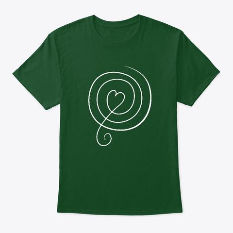 Simbolo Bishaija   Cerchio Di Guarigione Deep Forest T-Shirt Front