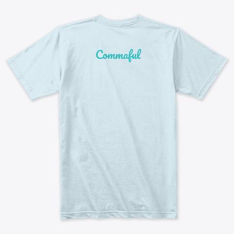 Commaful Light T Shirts Light Blue T-Shirt Back