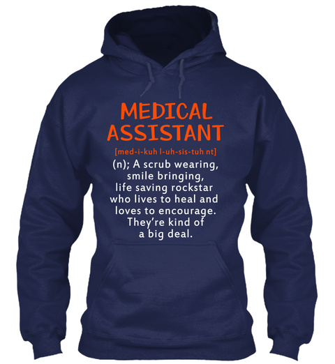 Awesome Medical Assistant Navy T-Shirt Front
