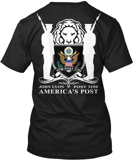 Men's White Lion Tee's Black T-Shirt Back