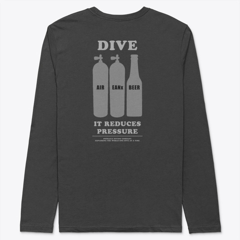 "Pdc Long Sleeve ""Dive"" 2 Black T-Shirt Back"
