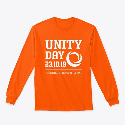 Unity Day 2019 Shirts Safety Orange T-Shirt Front