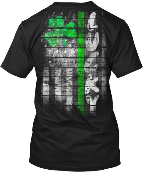 Lucky Black T-Shirt Back