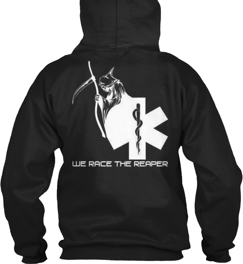 We Race The Reader Black Sweatshirt Back