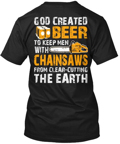 Beer's True Purpose... Black T-Shirt Back