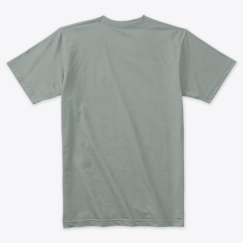 Old Rope Salvage Logo In Shades Of Grey Warm Grey T-Shirt Back