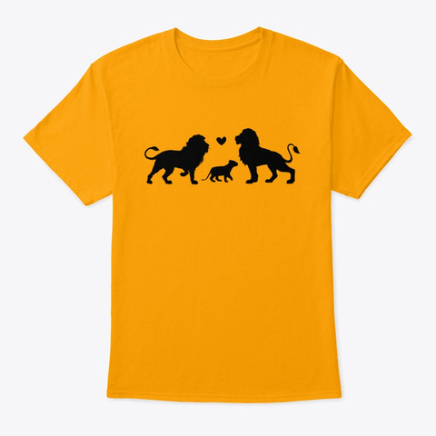 Lion Family   2 Dad Pride Gold T-Shirt Front