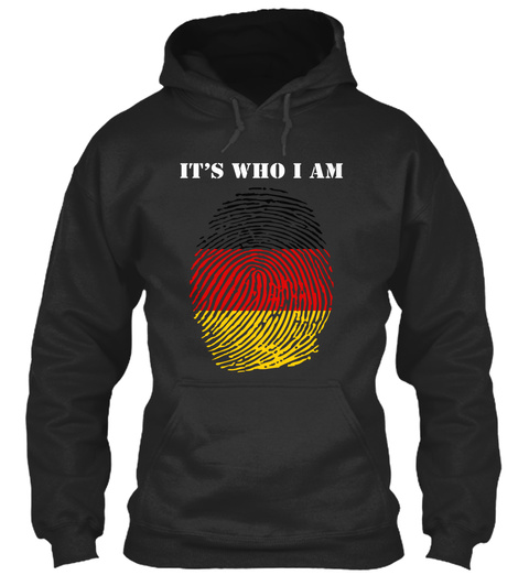 It's Who I Am Jet Black T-Shirt Front