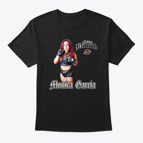 Monica 'flowerbomb' Garcia Black T-Shirt Front