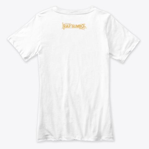 She Look Divine White T-Shirt Back