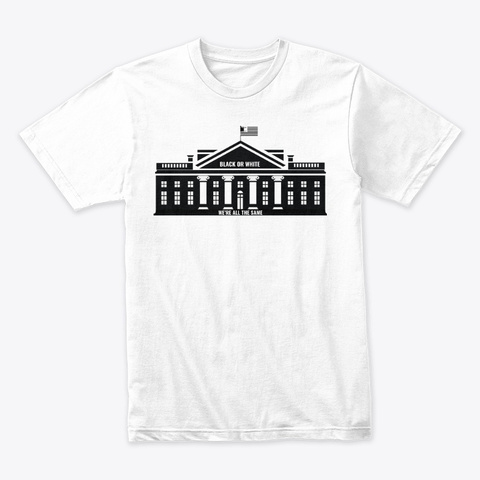 The Black House White T-Shirt Front
