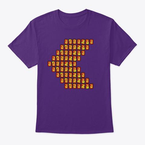 Coin Arrow Allgamesplayed Purple T-Shirt Front